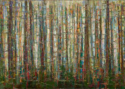 "'Running Trees' oil on canvas: 24"" x 48"""