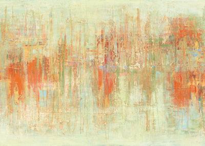 """'Yellow Marsh #1' oil on canvas: 15"""" x 30"""""""