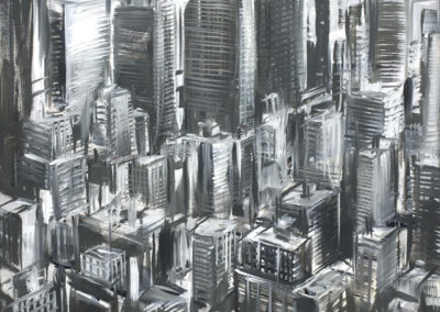 Michael Kerbow - Untitled (grey cityscape)
